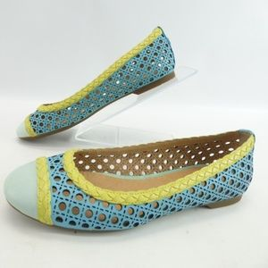 Sperry Top-Sider Clara Turquoise/Lime Flats, 8
